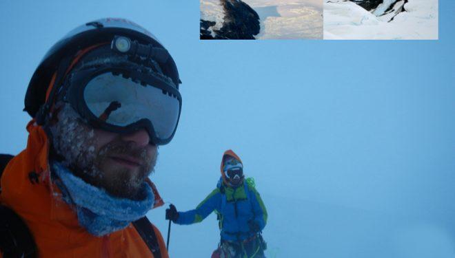 La expedición Incógnita Patagonia es la vencedora de los premios FEDME a la mejor actividad de Alpinismo Extraeuropeo 2016. Ibai Rico y Evan Miles atravesaron el campo de hielo Cloue y escalaron dos cimas vírgenes.  ()