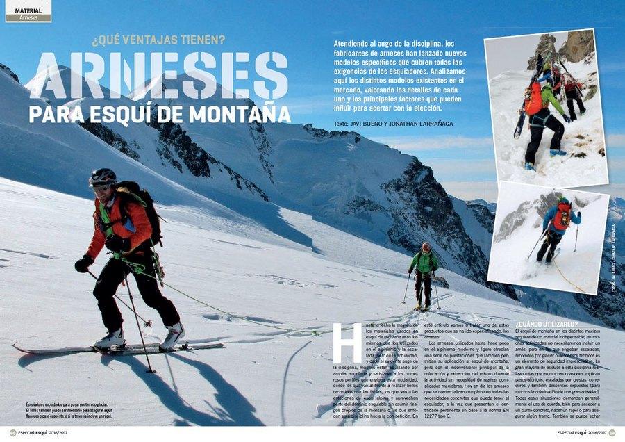 f7a6a6b5bcb Apertura del artículo `Arneses para esquí de montaña` dentro del nº 365  Especial esquí