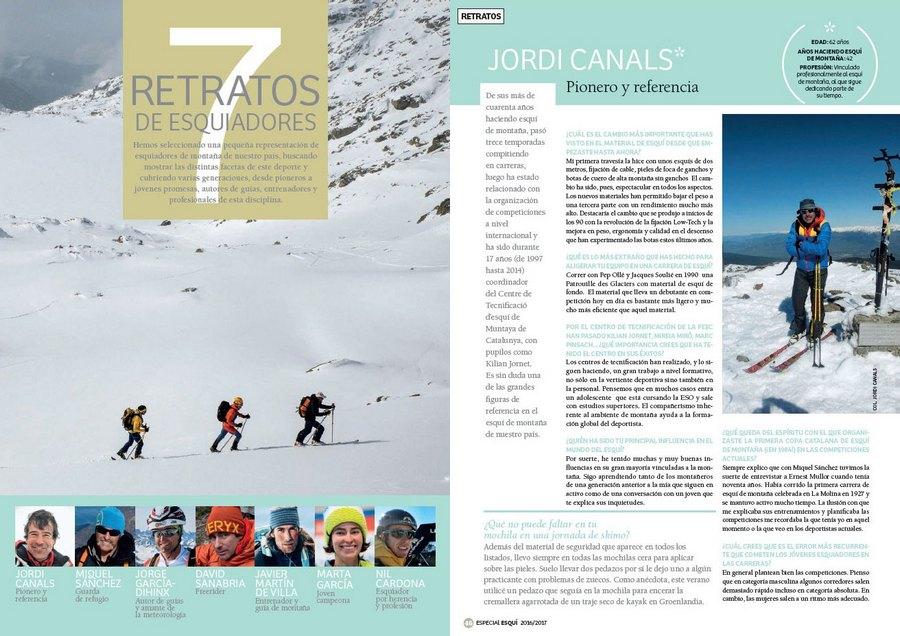 a035239767c Apertura del artículo 7 retratos de esquiadores dentro del nº 365 Especial  esquí de montaña 2016