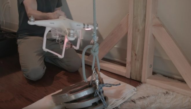 ¿Podrían las hélices de un dron cortar tu cuerda de escalada?  ()