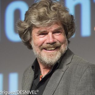 Reinhold Messner en el International Mountain Summit 2014  (© Darío Rodríguez/DESNIVEL)
