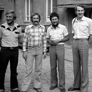 Jerzy Kukuczka, Krzysztof Wielicki, Andrzej Czok y Leszek Cichy, grandes protagonistas de la época dorada del himalayismo polaco.