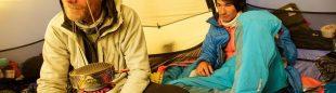 David Lama y Conrad Anker durante su intento al Lunag Ri. otoño 2015  (Col. D. Lama)