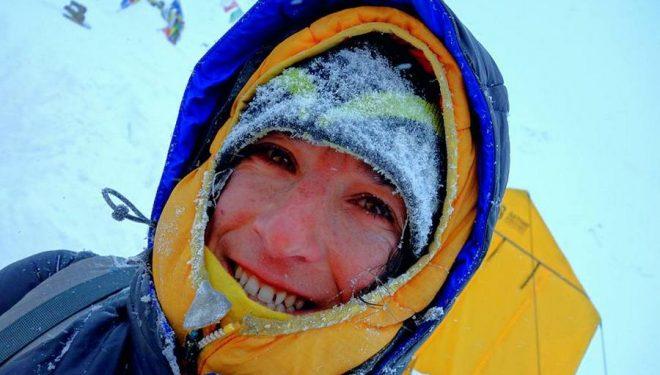 Elisabeth Revol en el Manaslu invernal  (Col. E. Revol)