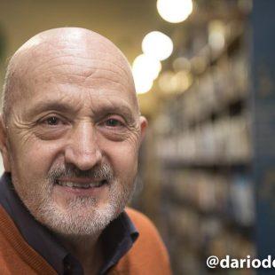 Sebas Álvaro en la Librería Desnivel en la presentación de la biografía de Carlos Soria