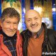 Sebas Álvaro y Carlos Soria en la Librería Desnivel en la presentación de la biografía de Carlos Soria