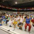 Escaladores y acompañantes en el acto de inauguración del Campeonato del Mundo de Escalada de Gijón2014  ()