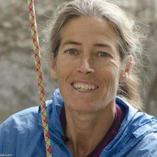 Roc Trip 2011. Lynn Hill sigue a sus 52 años tan fanática y llena de energia como siempre.  (©Darío Rodríguez/Desnivel.com)