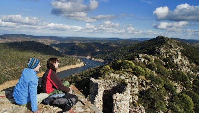 Impresionante vista del Tajo a su paso por el Parque Nacional de Monfragüe  (ANTONIO REAL HURTADO)