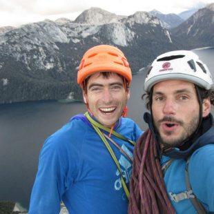 Diego y Juan Señoret en el Cero Küralemu (Andes)  (Col. J. Señoret)