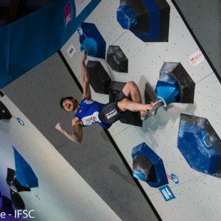 I prueba de la  Copa del Mundo de Búlder 2017 en Meiringen (Suiza). Foto Eddie Fowke  ()
