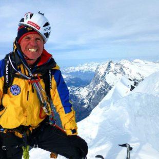 Peter Habeler (74)en la Heckmair en la norte del Eiger junto a David Lama.  (© David Lama)