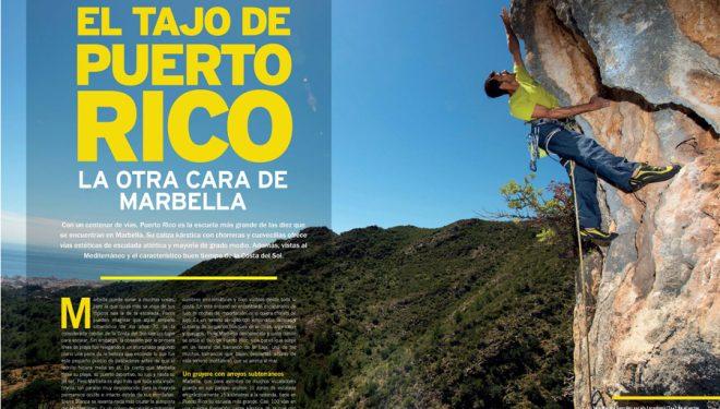 Escalar en El tajo de Puerto Rico en la revista Escalar nº 107.  ()