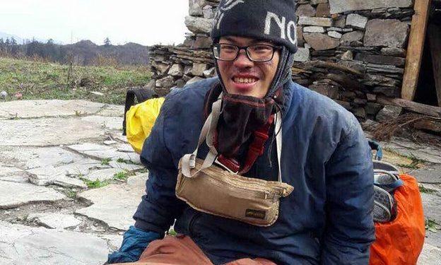 Liang Sheng-yue tras ser rescatado  (Foto: Uttam Chaudhari/Simrik Air)