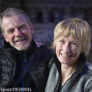 Nives Meroi y Romano Benet en la Semana Internacional Montaña de Guadarrama 2015  (© Darío Rodríguez/DESNIVEL)