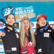 Podium femenino de la IFSC Climbing World Cup en Vail 2017.  (Eddie Fowke)