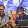 Sito Carcavilla y  Carlos Soria en la Librería Desnivel durante la conferencia sobre su expedición al Dhaulagiri 2017  (©Darío Rodríguez/DESNIVEL)