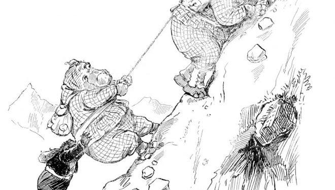Ilustración del libro Una gran ascensión  (© G.H. Thompson)