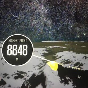 Una imagen tomada del vídeo del recorrido de Kilian Jornet en el Everest memorizado por su reloj Suunto  (©Suunto)