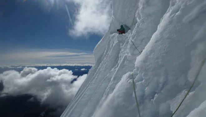 Oriol Baró durante la ascensión del Huantsán (Cordillera Blanca)  (Foto: Marc Toralles)