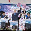 Podium masculino de la Copa del Mundo de Chamonix 2017  ()