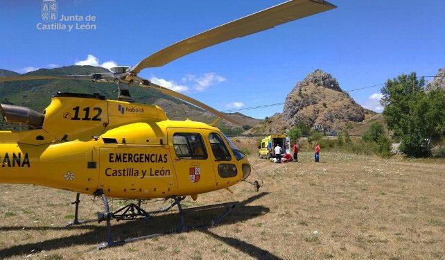 Operación de rescate en las montañas de León.  ()