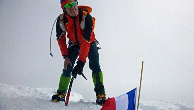 Emanuele Andreozzi en la cima del Mont Blanc (4.810 m) (Col. E. Andreozzi)