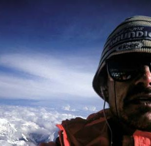 Marc Batard en la cima del Everest  (Col. M. Batard)