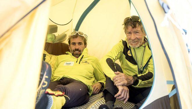 Carlos Soria y Sito Carcavilla en el C1 del Dhaulagiri.  (©Luis Miguel Soriano)