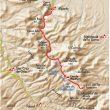 Mapa correspondiente a la ruta de Robledal de Mosomero en la Sierra de Algairén.  (Eduardo Viñales Cobos)