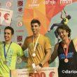 Podio masculino de la primera prueba de la Copa de España de Bloque 2017  (Darío Rodríguez)