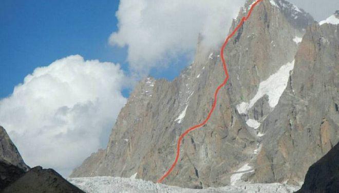 Línea escalada por Uisdean Hawthorn
