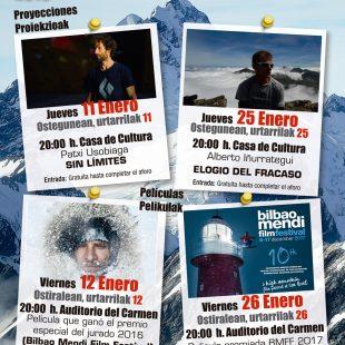 Cartel promocional de las Jornadas de Montaña en Sangüesa (Comunidad Foral de Navarra)  (Patronato Municiapal de Deportes de Sangüesa)
