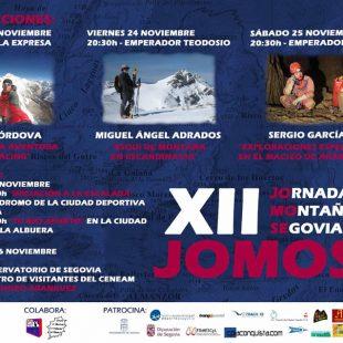 Cartel con la programación de las Jornadas de Montaña Segovianas  (CD Aguacero)