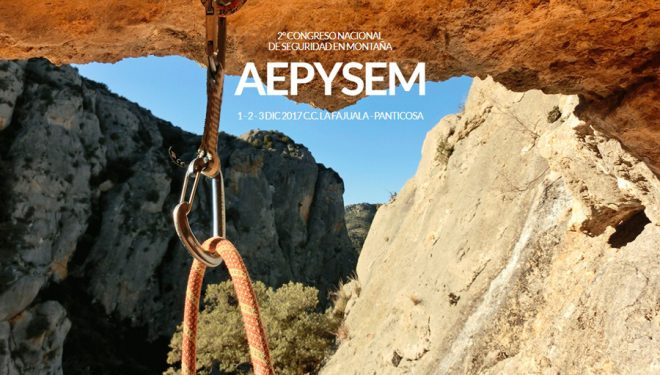Cartel promocional 2º Congreso Nacional de Seguridad en Montaña en Panticosa (Aragón)  (Asociación Española por la Prevención y Seguridad en Montaña)