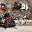 La pared del refugio de Galayos