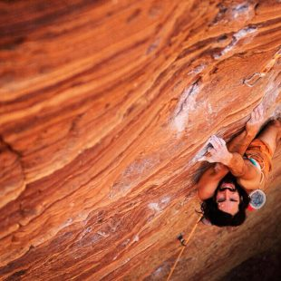 Lucho Birkner en plena escalada  (Sharanam Ganesha Project)