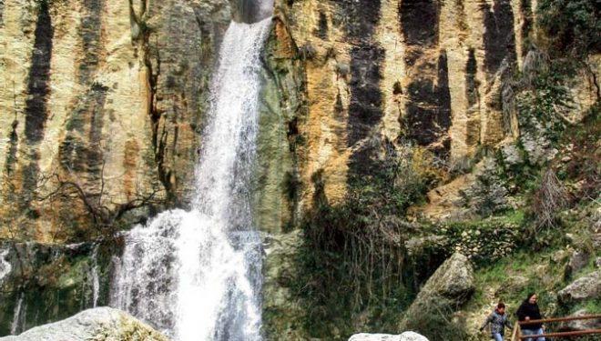 Cascada Cerrada de la Magdalena, cercana a la Gran Senda de los Primeros Pobladores