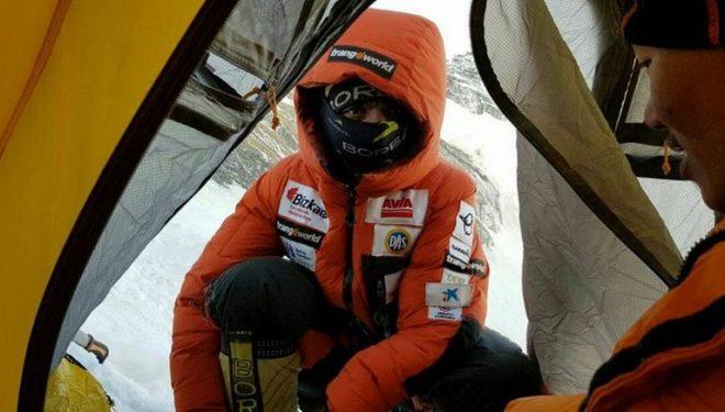 Ali Sadpara en el Everest invernal (febrero 2018)