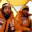Álex Txikon y Ali Sadpara en su tienda del Everest invernal (febrero 2018)
