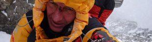 Denis Urubko, en el Espolón de los Abruzzos del K2 (febrero 2018)