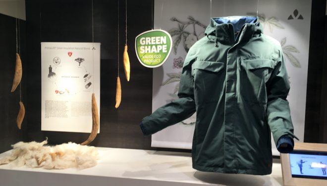 Chaqueta con sello Green Shape de Vaude en Ispo 2018