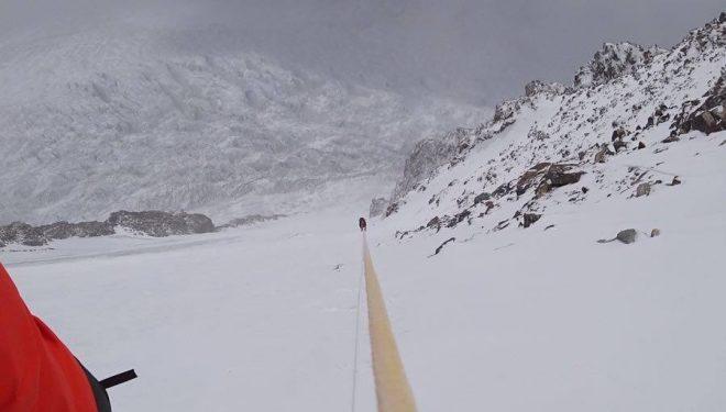 La expedición polaca al K2 invernal en la aclimatación para intentar la cima.