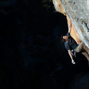 Gerard Rull en 'La Rambla' 9a+ de Siurana