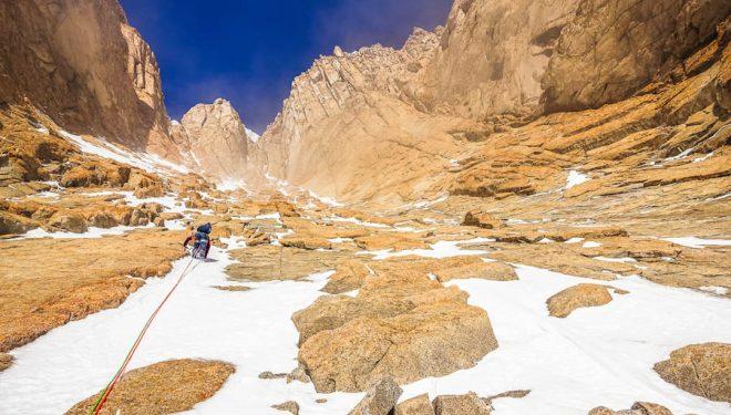 Corredor en el Monte Tidd, en el macizo de las Pirrit Hills, en la Antártida. 2018