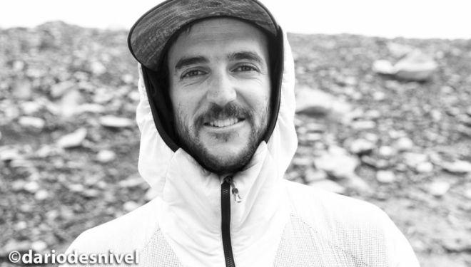 El alpinista y escalador chileno Juan Pablo Mohr en el campo base del Dhaulagiri (primavera 2018).