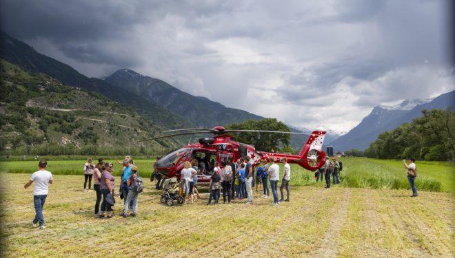 Durante la celebración del 50 aniversario de Air Zermatt, Suiza. Mayo de 2018.