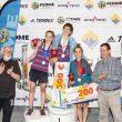 Podio femenino, categoría Absoluta de la 1ª prueba Copa de España Dificultad 2018