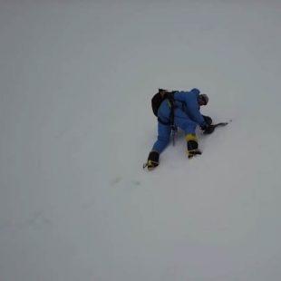 Imagen del rescate de Rick Allen en el Broad Peak con un dron. 2018