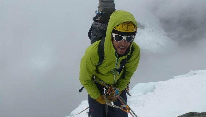 El alpinista vasco Iker Madoz. 2018